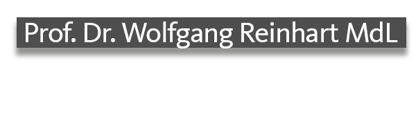 Prof. Dr. Wolfgang Reinhart MdL Bauchinde