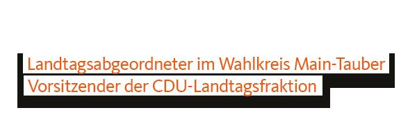 Prof. Dr. Wolfgang Reinhart MdL Titel