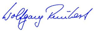Die Unterschrift von Prof. Dr. Wolfgang Reinhart MdL